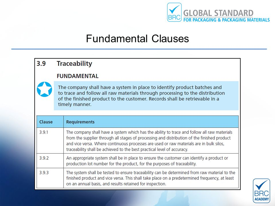 Fundamental Clauses