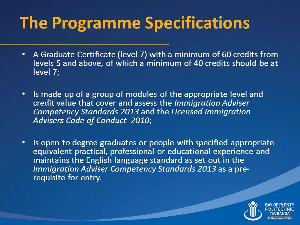 Graduate Certificate In New Zealand Immigration Advice Level 7