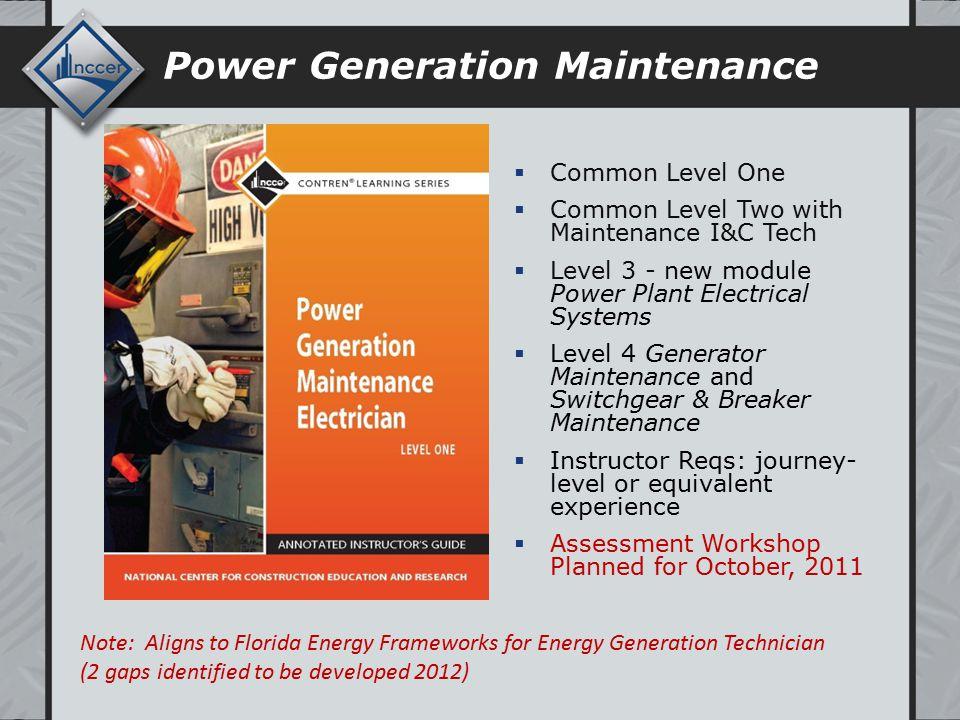 Florida Energy Workforce Consortium NCCER Energy Update May
