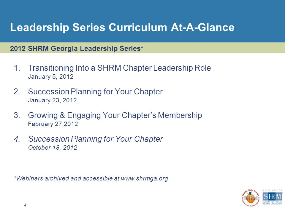 SHRM Georgia Leadership Series For Current And Aspiring Chapter - Succession planning template shrm