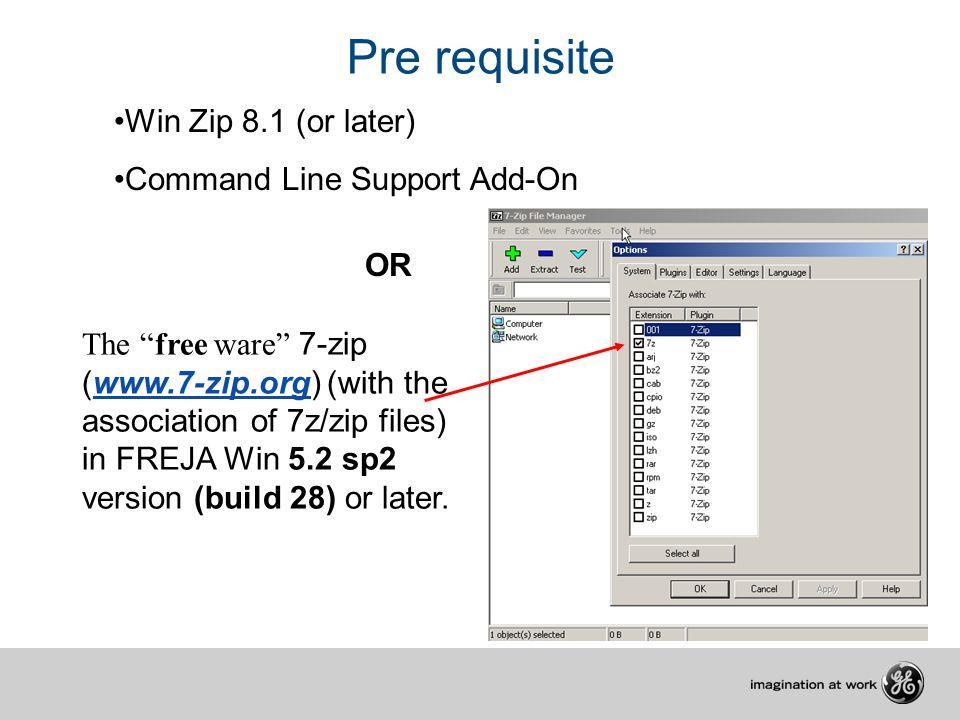 Using ZIP files in FREJA Win Pre requisite Export the test
