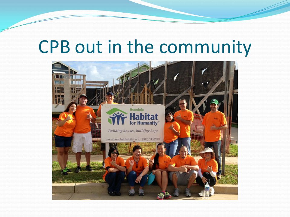 CPB out in the community