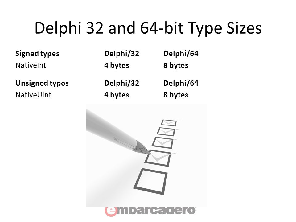 64-bit and VCL Styles Deep Dive  Delphi 64-bit What's the same
