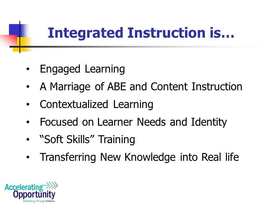 Using Integrated Instruction To Accelerate Learning Ppt Download