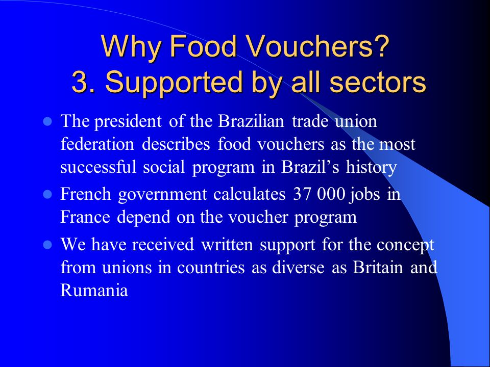 Why Food Vouchers. 3.