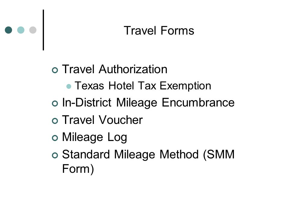 travel procedures mileage reimbursement forms accounts payable