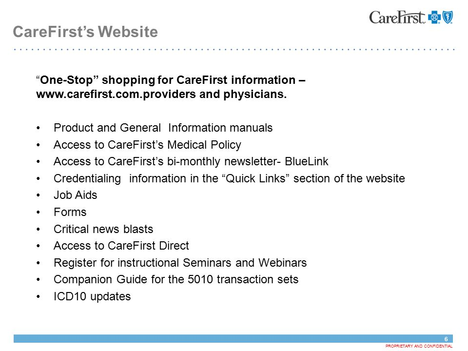 Carefirst Bluecross Blueshield Is The Shared Business Name Of