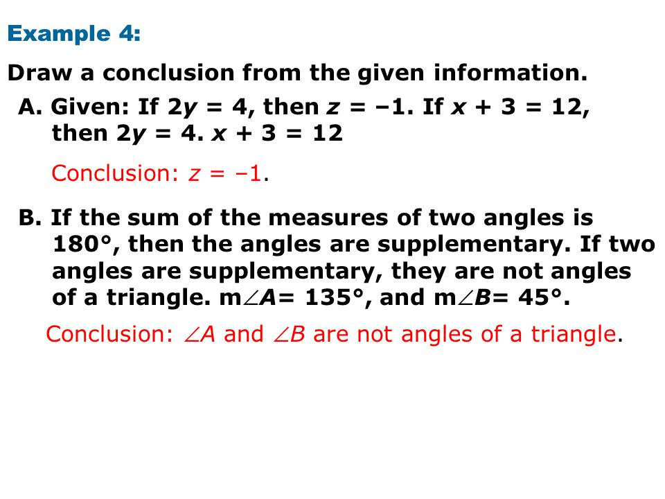 Warm Up Identify The Hypothesis And Conclusion Of Each Conditional