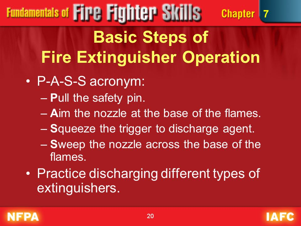 7 portable fire extinguishers captain walker 2 objectives 1 of 2