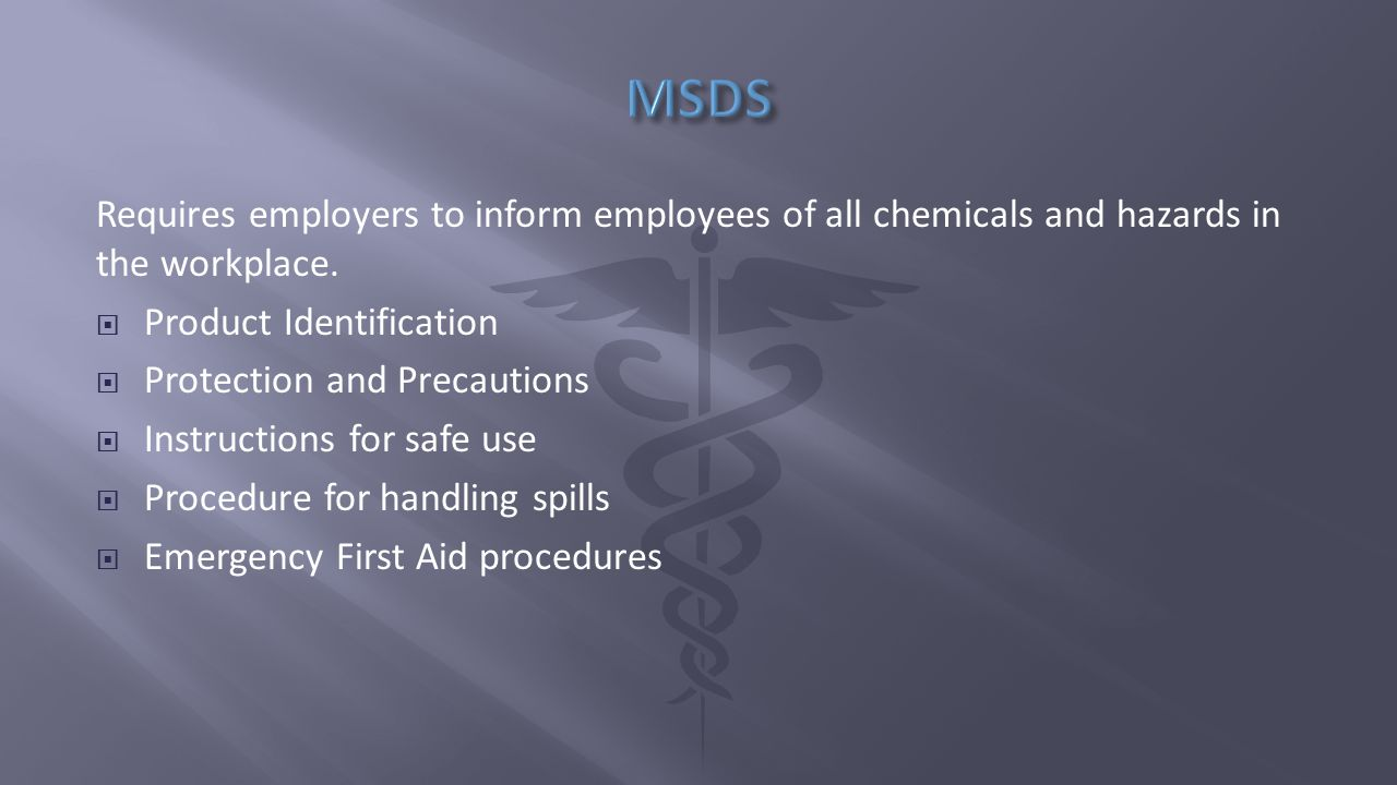 Requires employers to inform employees of all chemicals and hazards in the workplace.