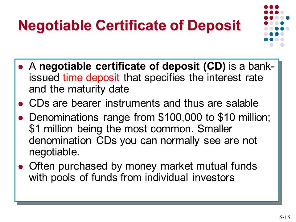 5 1 Money Markets Money Markets Involve Debt Instruments With