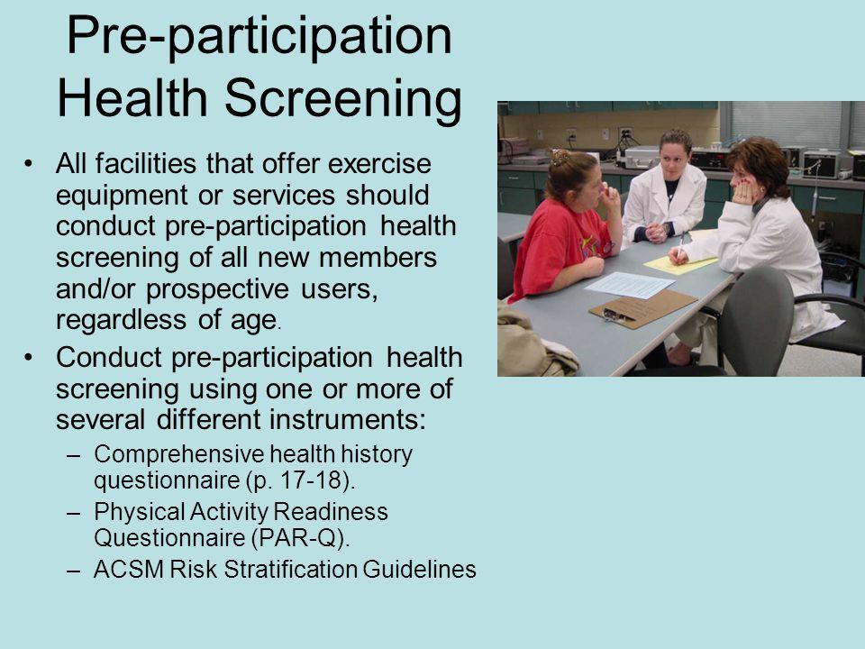 chapter 2 3 health appraisal pre assessment screening risk factor