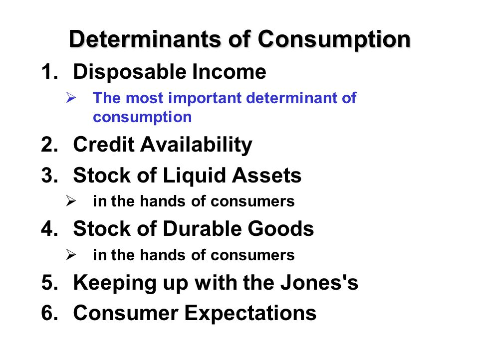 DETERMINANTS OF CONSUMPTION DOWNLOAD