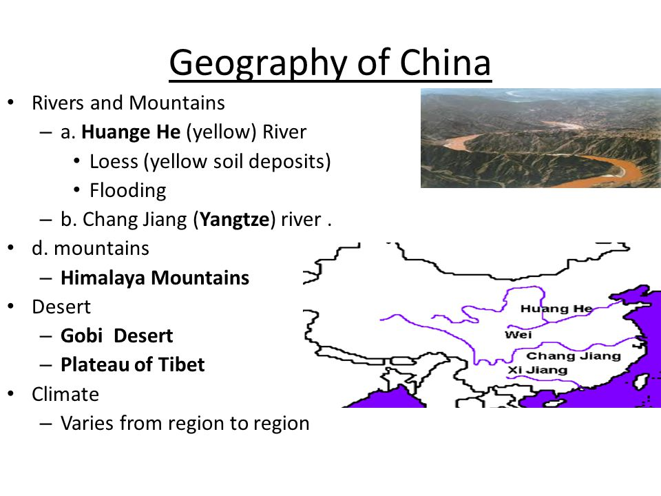 Geography of China Rivers and Mountains – a.