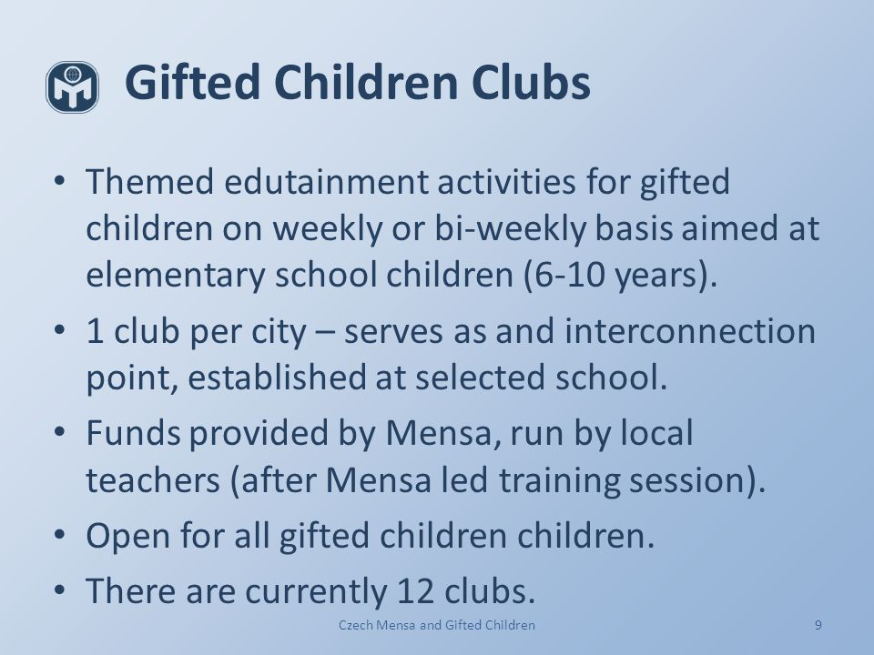 9 Gifted ...