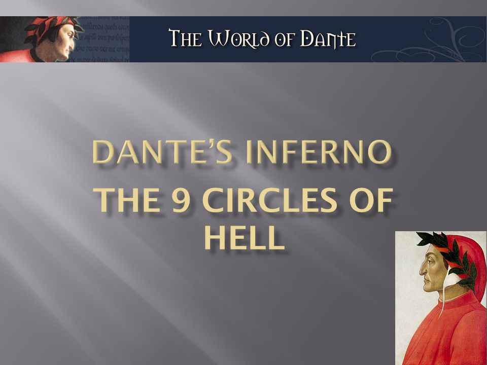The Divine Comedy Describes Dante S Journey Through Hell