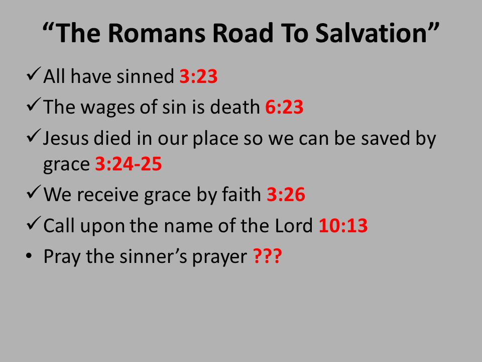 photograph relating to Romans Road to Salvation Printable titled THE ROMANS Street In direction of SALVATION. \u201cThe Romans Street Toward Salvation