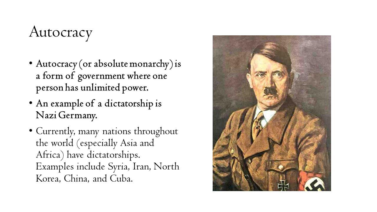 autocracy dictatorship examples - 1280×720