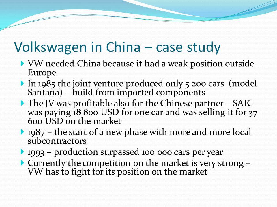 volkswagen in china case study