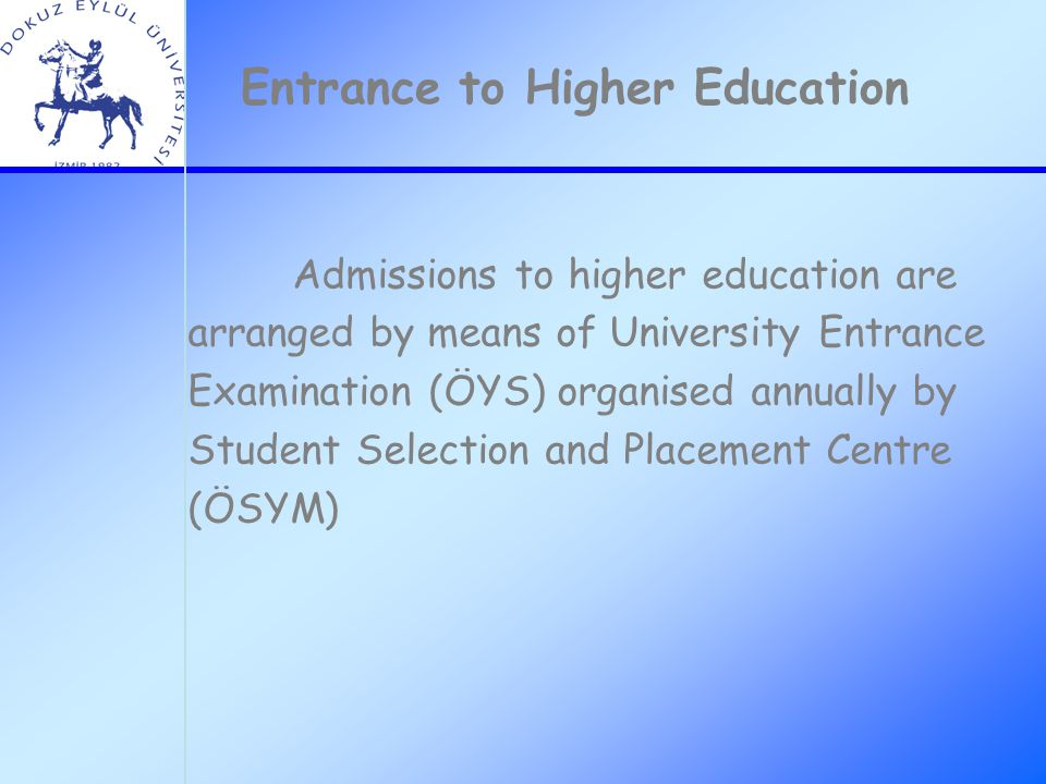 university entrance selection