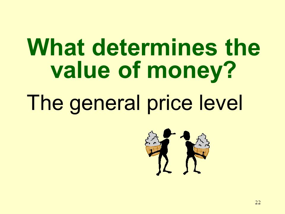 21 Why does money have value It is useful and relatively scarce