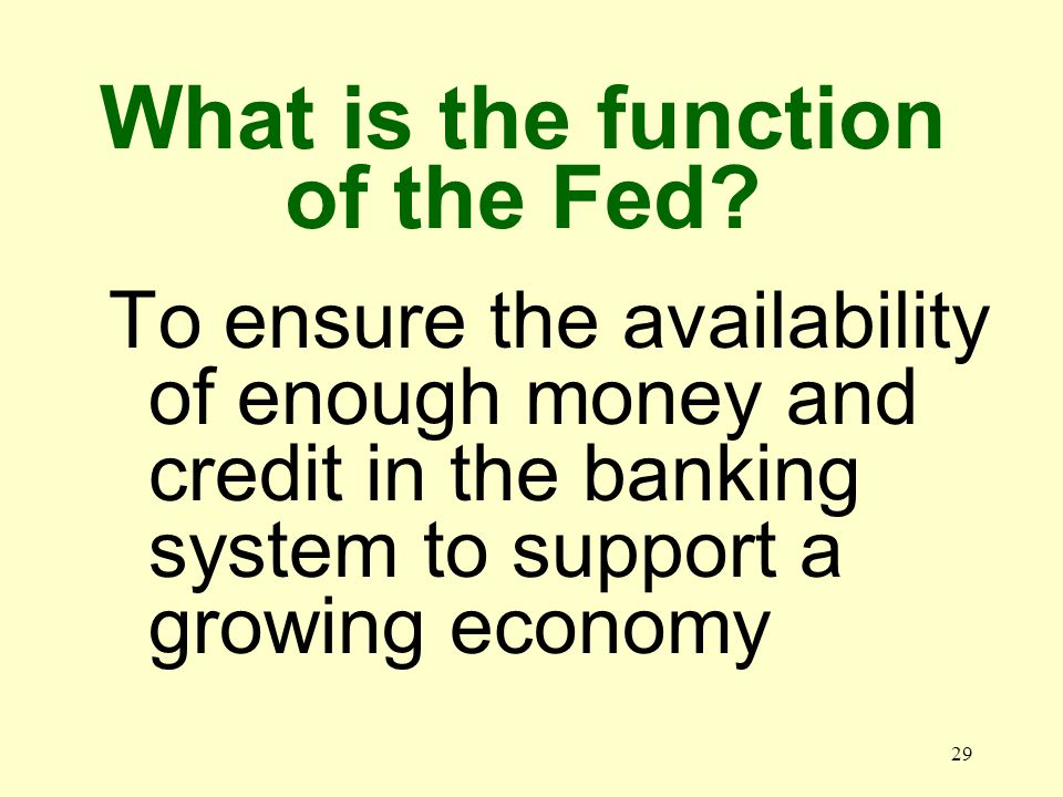 28 What is the Federal Reserve System.