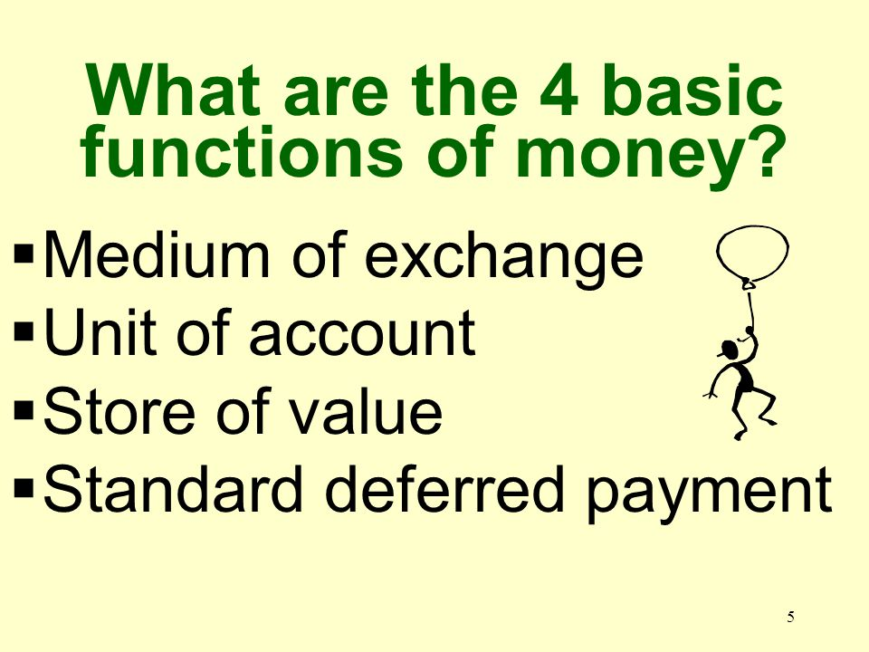 4 What is currency.