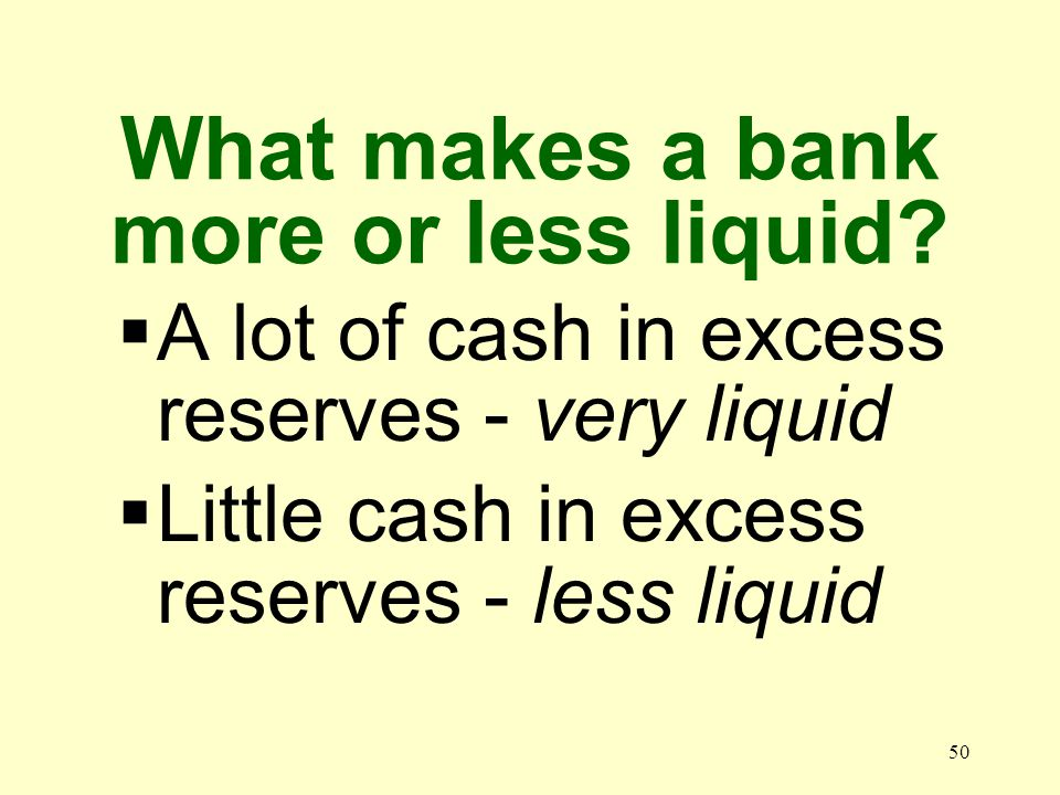 49 What does liquidity have to do with the money supply.