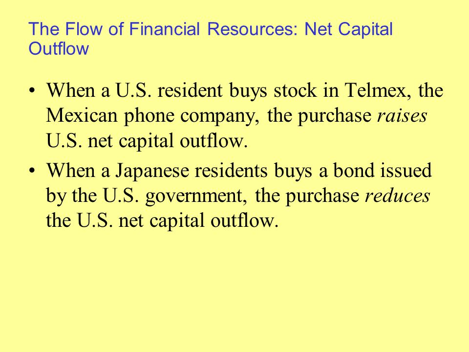 The Flow of Financial Resources: Net Capital Outflow When a U.S.