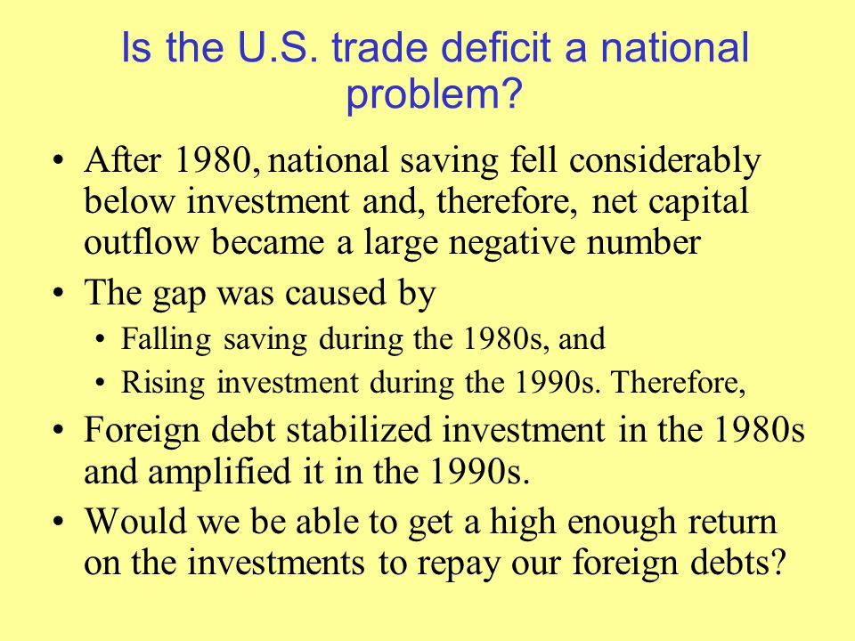Is the U.S. trade deficit a national problem.