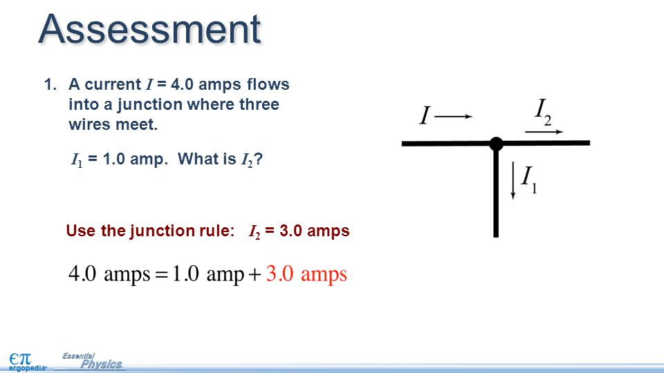 Essment Use The Junction Rule I 2 3 0 Amps 1 A Cur