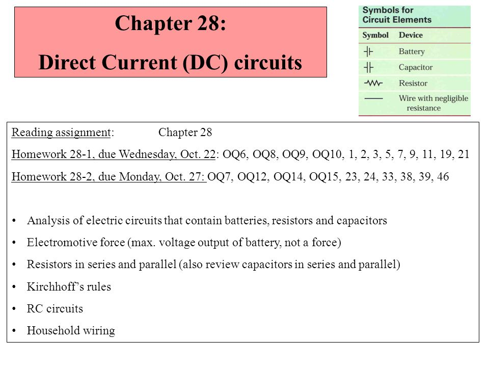 Super Chapter 28 Direct Current Dc Circuits Reading Assignment Chapter Wiring Digital Resources Kookcompassionincorg