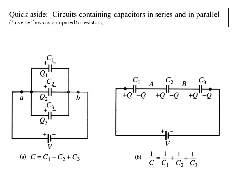 EMFs in series and in parallel (a)Connecting the emfs in series head-to-tail, the voltages add up.