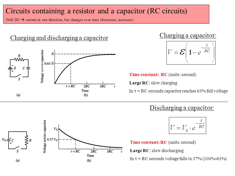 Quick aside: Circuits containing capacitors in series and in parallel ('inverse' laws as compared to resistors)