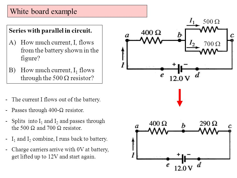 White board example I1I1 R1R1 i-clicker. Series and parallel resistors.