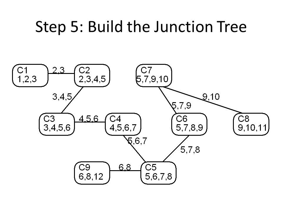 Step 5: Build the Junction Tree