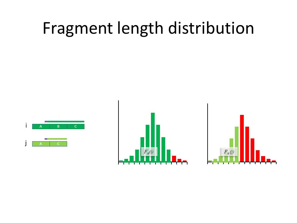 Fragment length distribution ABC AC ABC AC ABC AC i j F a (i) F a (j)