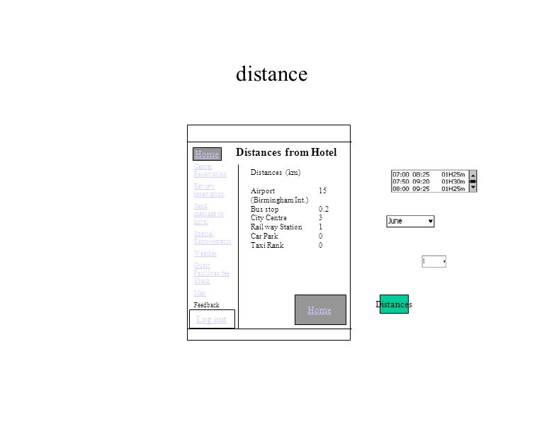 distance Home Distances from Hotel Distances (km) Airport 15 (Birmingham Int.) Bus stop 0.2 City Centre 3 Rail way Station 1 Car Park 0 Taxi Rank0 Distances Home Cancel Reservation Review reservation Send message to hotel Special Requirements Weather Guest Facilities/fee dback Map Feedback Log out