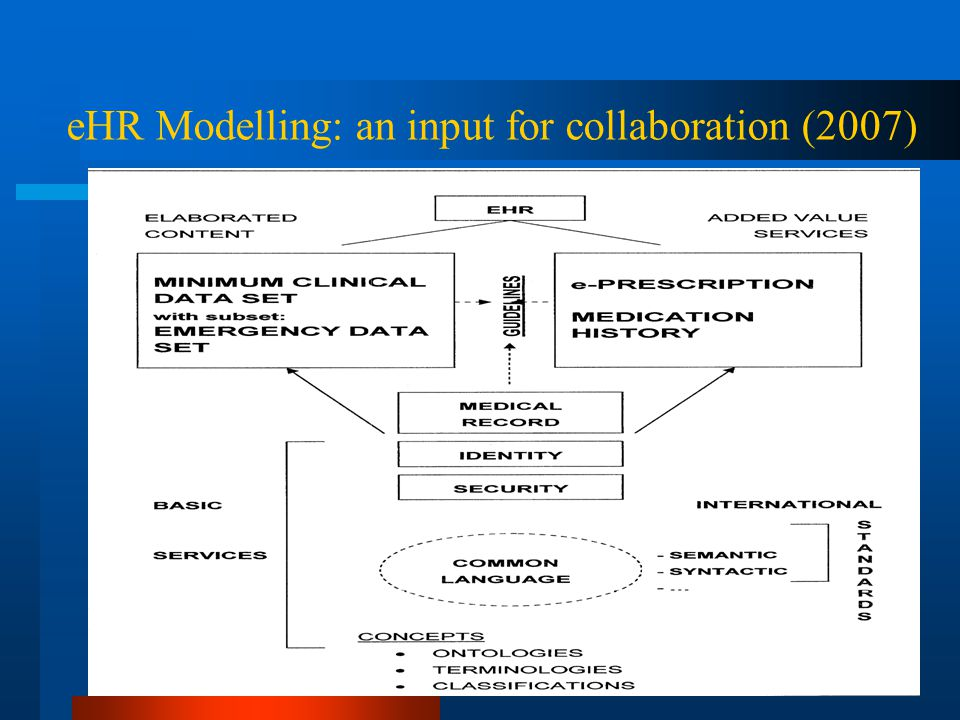 4 eHR Modelling: an input for collaboration (2007)