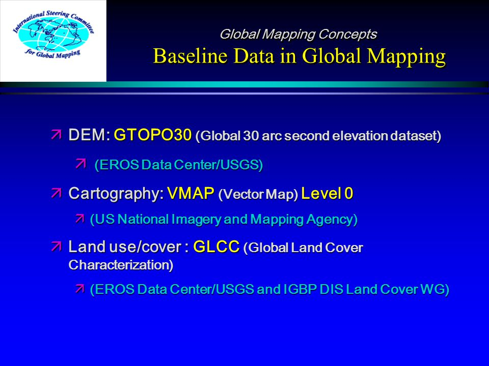 Global Mapping and Global Clearinghouse initiative International ...