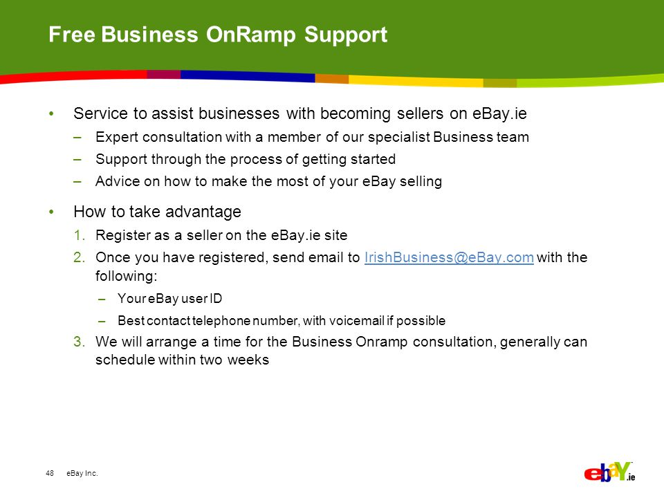Ebay Ie Our Role In Irish Ecommerce Suzanne Daly February Ppt Download