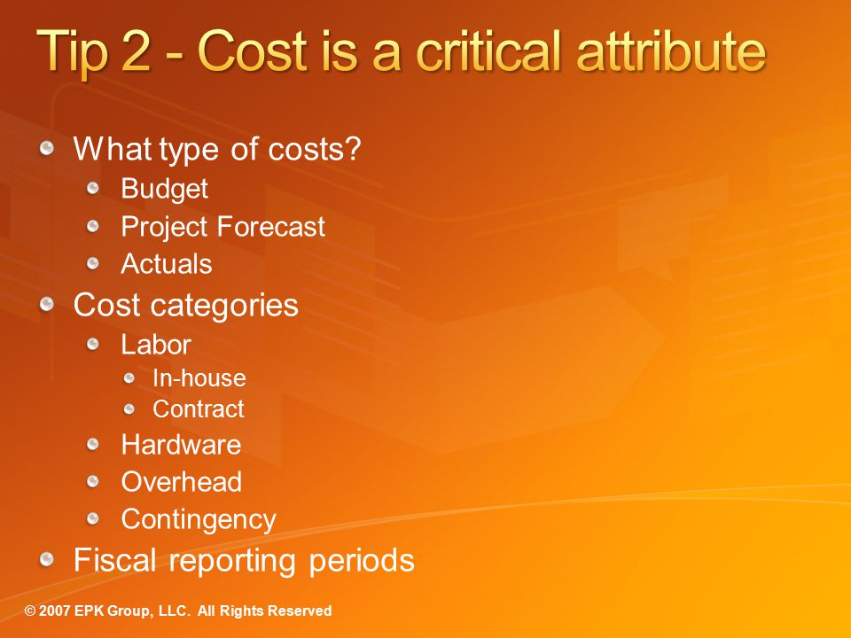 What type of costs.