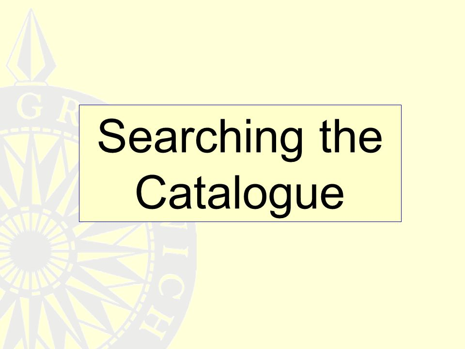 Searching the Catalogue