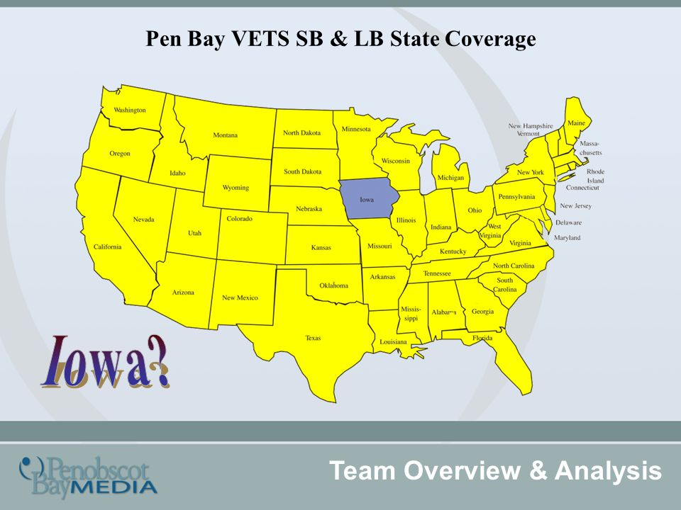 Pen Bay VETS SB & LB State Coverage Team Overview & Analysis