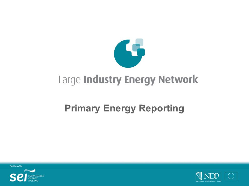 Primary Energy Reporting
