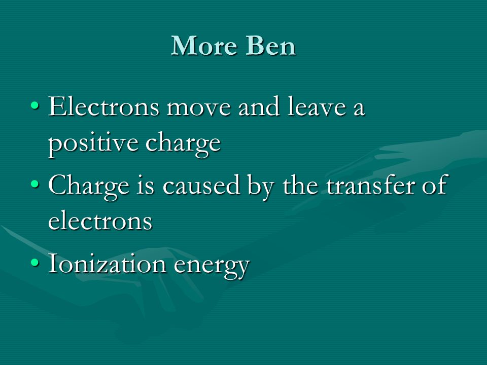 Ben Franklin Noticed Two types of chargeNoticed Two types of charge Mobile chargeMobile charge Stationary chargeStationary charge Positive electricity – when he rubbed glassPositive electricity – when he rubbed glass Negative electricity – when he rubbed amberNegative electricity – when he rubbed amber