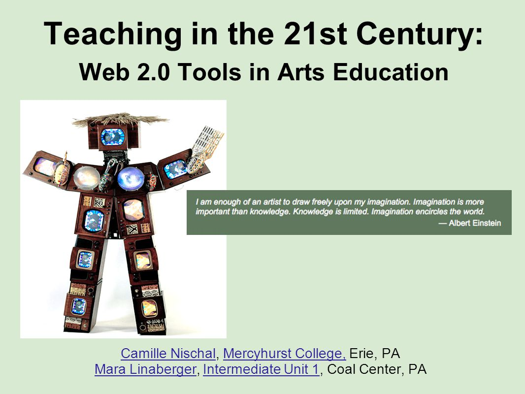 Teaching in the 21st century: web 2. 0 tools in arts education.