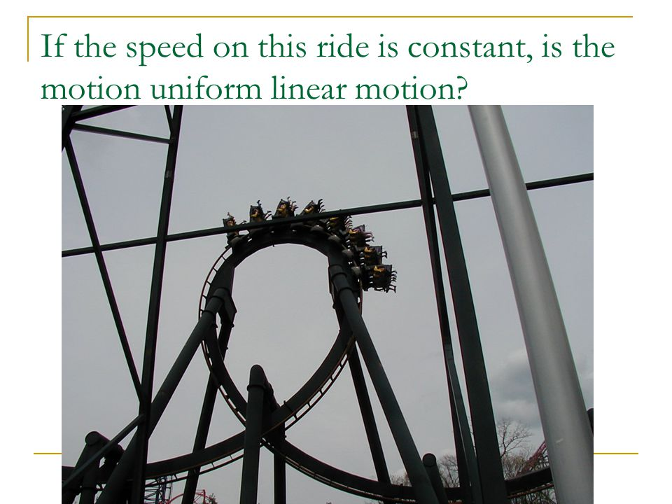 Speed and Velocity -Uniform Linear Motion Physics Mrs  Coyle
