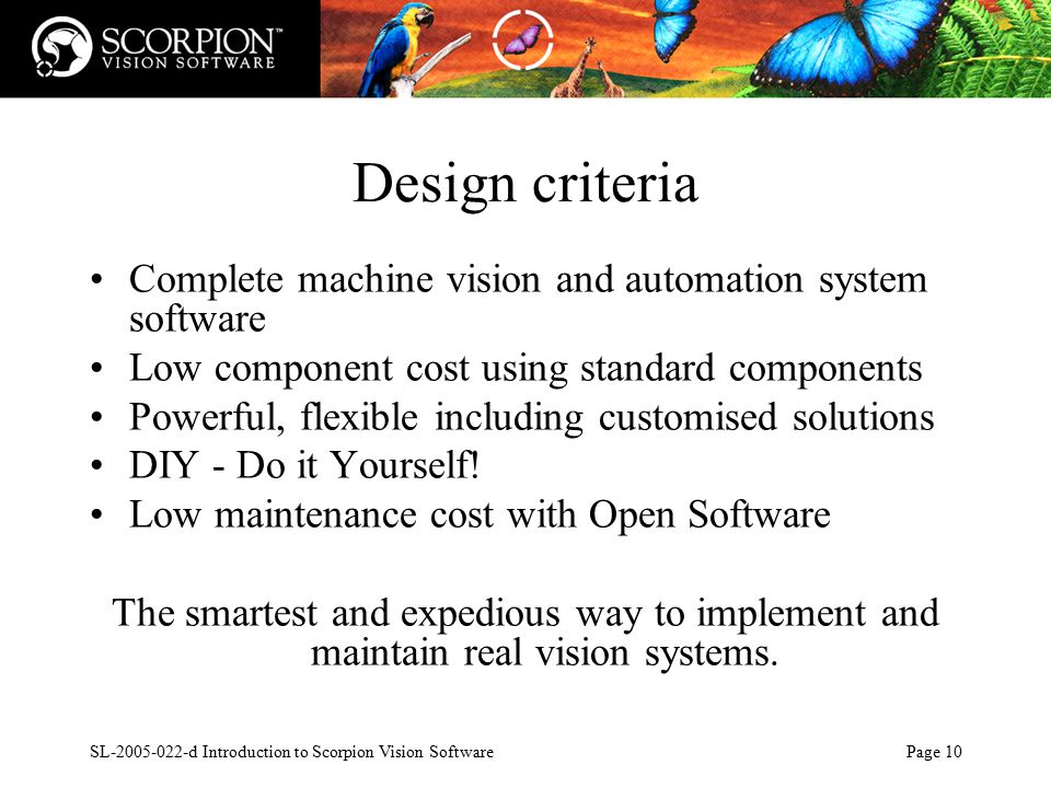 SL d Introduction to Scorpion Vision Software Page ppt download