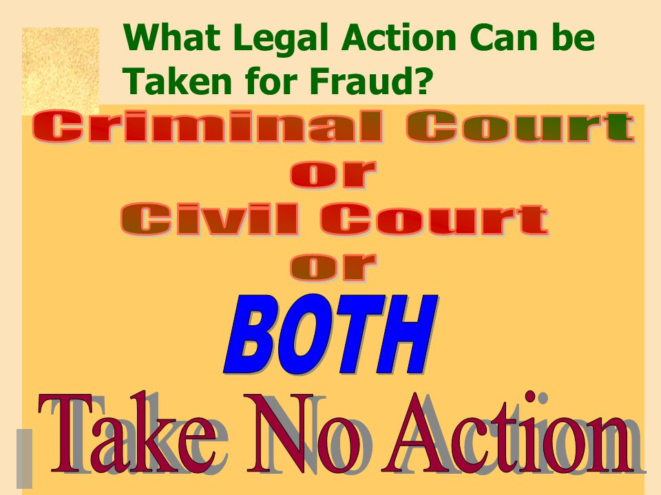 What Legal Action Can be Taken for Fraud
